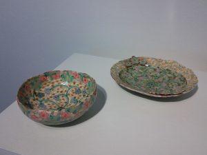 """Bowl"" and ""Oval plate"" by Shoko Teruyama"
